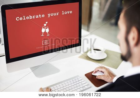 Celebrate Your Love Valentine Romance Love Toast Dating Concept