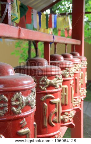Buddhist drums of fate in ancient Datsan