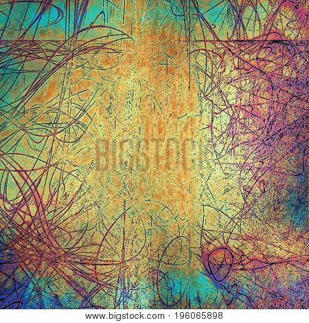 Antique grunge background with space for text or image. With different color patterns: yellow (beige); brown; green; blue; red (orange); purple (violet)