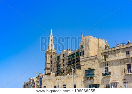 St. Pauls Cathedral view of Valletta in Malta