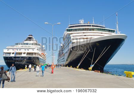 Tallin, Estonia-July 07, 2017: Holland America cruise ships