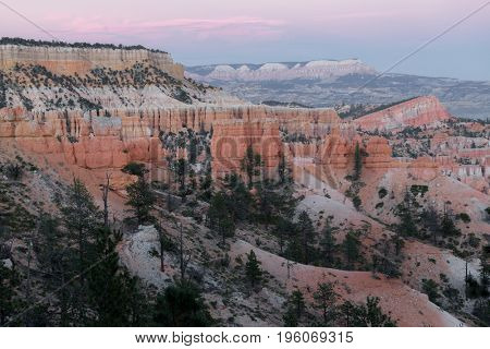 Bryce Canyon National Park during sunset, USA