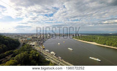 summer in Kiev, aerial view,