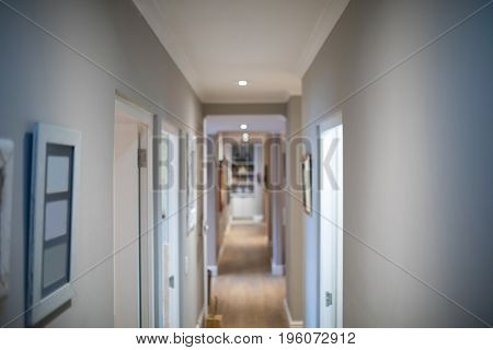 Open doors in corridor at home