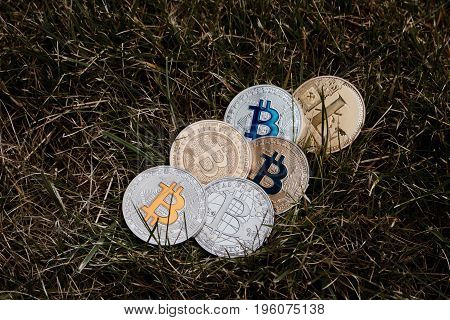 Silver And Gold Bitcoins