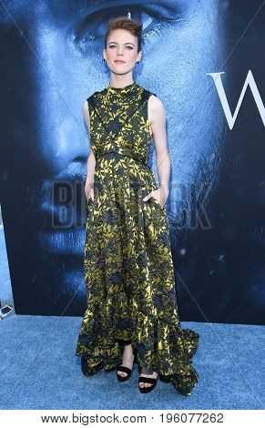 LOS ANGELES - JUL 12:  Rose Leslie arrives for the Season 8 premiere of HBO's 'Game of Thrones' on July 12, 2017 in Los Angeles, CA