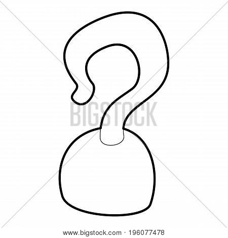 Hook icon in outline style isolated on white vector illustration