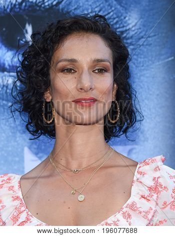 LOS ANGELES - JUL 12:  Indira Varma arrives for the Season 8 premiere of HBO's 'Game of Thrones' on July 12, 2017 in Los Angeles, CA