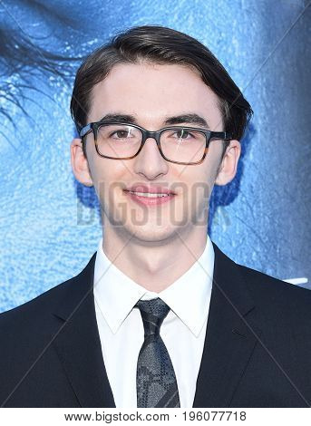 LOS ANGELES - JUL 12:  Isaac Hempstead Wright arrives for the Season 8 premiere of HBO's 'Game of Thrones' on July 12, 2017 in Los Angeles, CA