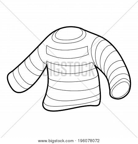 Seaman clothes icon in outline style isolated on white vector illustration