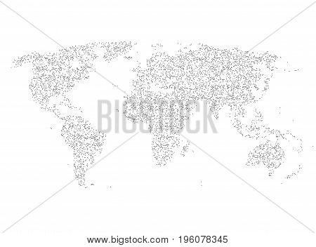 World map made of dots vector background. EPS10
