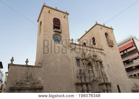 Facade Of The Church Of Santa Maria.