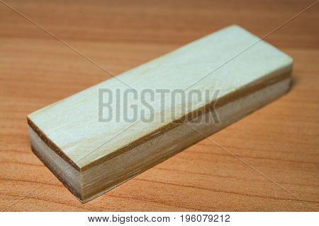 Wooden Geometric Shapes, On A Wooden Table