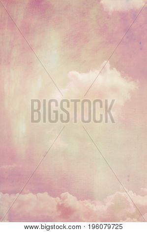 Beautiful dreamy subtle background with white clouds