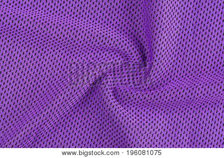 Neatly folded shiny purple texture with soft waves of fabric to design