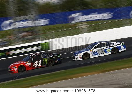 July 16, 2017 - Loudon, NH, USA: Kurt Busch (41) and Dale Earnhardt Jr. (88) battle for position during the Overton's 301 at New Hampshire Motor Speedway in Loudon, NH.