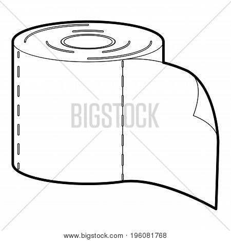 bumf icon in outline style isolated on white vector illustration