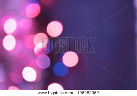 Violet Purple Bokeh Abstract Background
