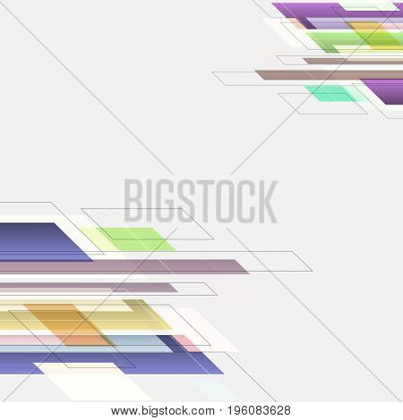 Abstract background with colourful straight line, stock vector