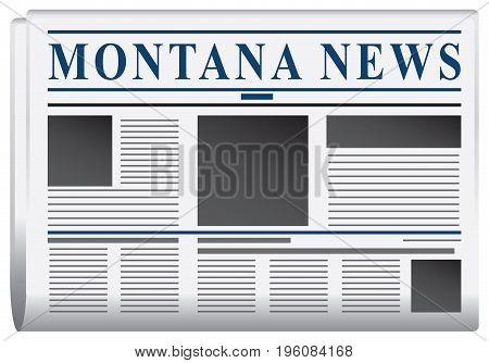 Fake newspaper of the state of Montana - Montana news