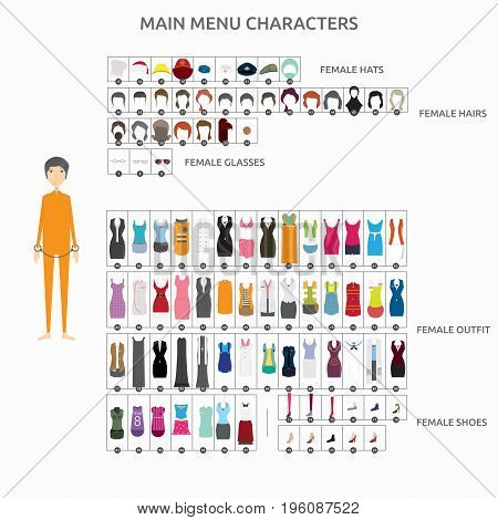 Character Creation Criminal   set of vector character illustration use for human, profession, business, marketing and much more.The set can be used for several purposes like: websites, print templates, presentation templates, and promotional materials.