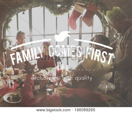 Family Time Wonderful Christmas Happiness