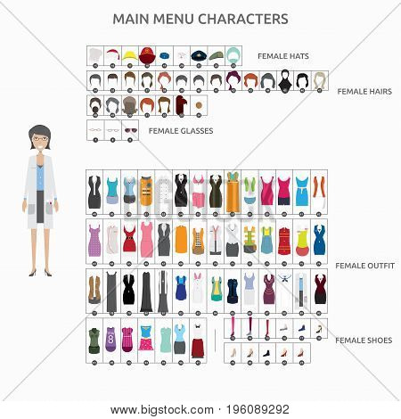 Character Creation Scientist | set of vector character illustration use for human, profession, business, marketing and much more.The set can be used for several purposes like: websites, print templates, presentation templates, and promotional materials.