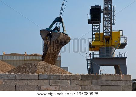 Big Yellow Harbor Crane