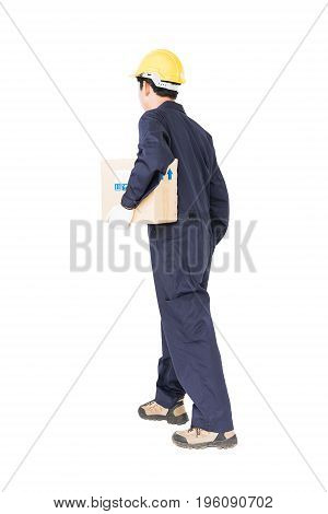 Young Man Hold Paper Box