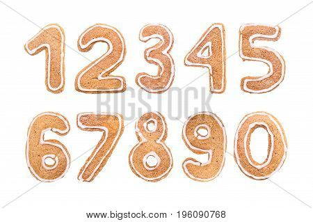 New Year's set of numbers from ginger biscuits 2018