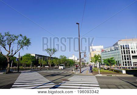 Street In Akita, Japan
