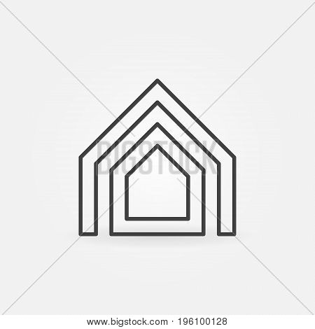 Property thin line icon. Vector minimal house concept sign or logo element