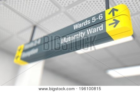 Hospital Directional Sign Maternity