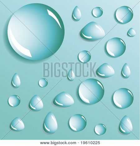 Abstract background with bubbles in the layer of water. Vector.