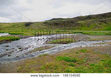 Beautiful Landscape Hiking The Fimmvorduhals Trail In Iceland