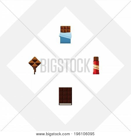 Flat Icon Cacao Set Of Sweet, Dessert, Delicious And Other Vector Objects