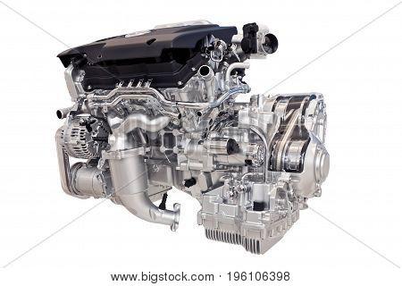 new car engine isolated on white background