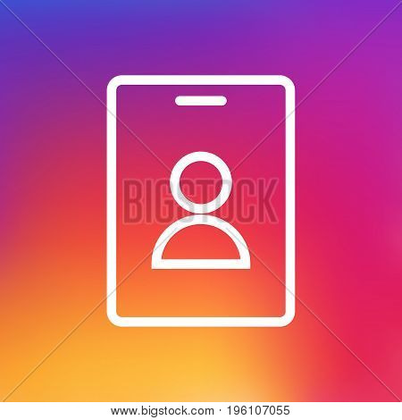 Isolated Id Card Outline Symbol On Clean Background