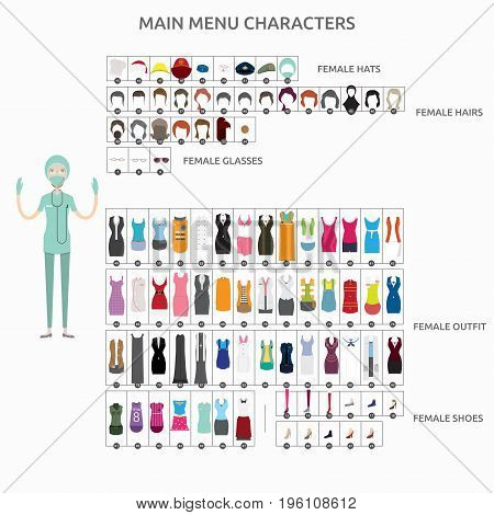 Character Creation Surgeon   set of vector character illustration use for human, profession, business, marketing and much more.The set can be used for several purposes like: websites, print templates, presentation templates, and promotional materials.