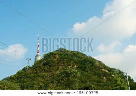 Seoul Tower In Summer In South Korea
