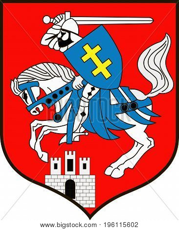 Coat of arms of Siedlce city in Masovian Voivodeship in eastern Poland. Vector illustration from the