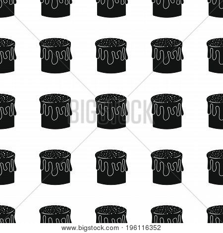 Easter pie bakery product black simple silhouette vector seamless pattern, silhouette stylish texture. Repeating Easter pie seamless pattern background for bakery design and web