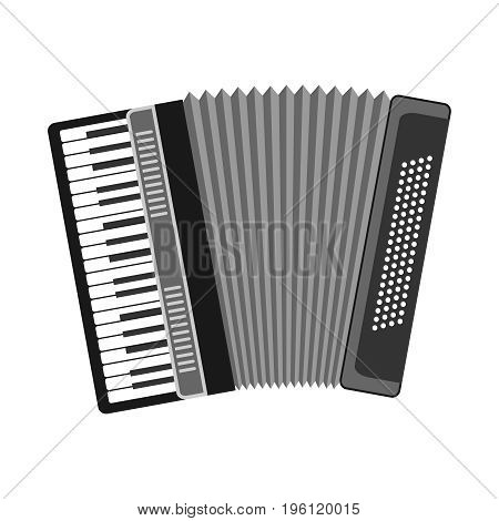 Accordion musical instrument accordion icon. Flat design vector illustration vector.