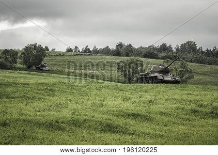 Russian Tanks T-34 From World War Ii, Slovakia