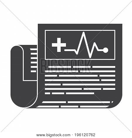 Medical journal, vector silhouette on white background