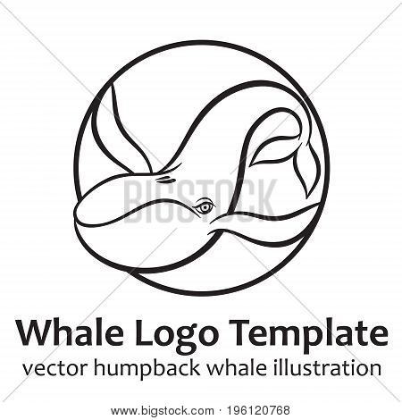 Whale - vector illustration for logo or sighn