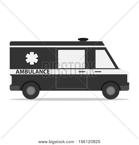Ambulance car icon of ambulance. Flat design vector illustration vector.