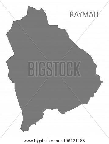 Raymah Yemen Governorate Map Grey Illustration Silhouette Shape