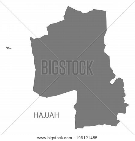 Hajjah Yemen Governorate Map Grey Illustration Silhouette Shape