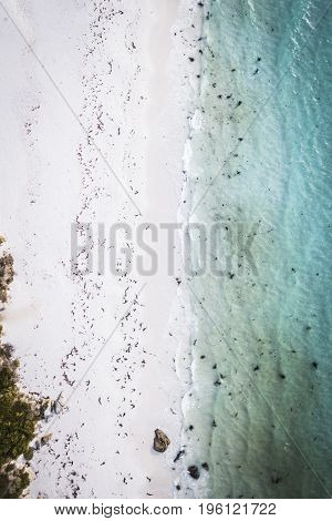 Ansons Bay From Above, Located Near Bay Of Fires On The North-east Coast Of Tasmania.